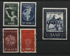 Saarland 314-315 316 317 318 gestempelt (B02853)