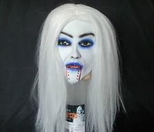 R6 Rubber White Hair Witches Bloodsucker Vampire Costume Cosplay Halloween Mask