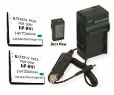 2X Batteries + Charger for Sony DSC-W560 DSC-W560B DSC-WX50 DSC-WX150 DSC-TX200V
