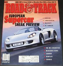 Road & Track Magazine April 2001-European Supercar Preview