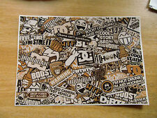 Sticker Bomb sheet 3g - Beige / Tan - A4 size