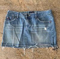 AEROPOSTALE Womens Juniors Denim Distressed Jean Blues Mini Skirt  Size 5 6