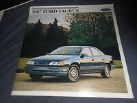 1987 Ford Taurus Color Brochure Catalog  Prospekt