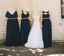9a8256e5e36 Lanting Bride Floor-length Convertible Bridesmaid Dress Size Navy 18W