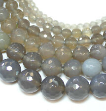 10mm perlas Strang 39cm Nieve-obsidiana
