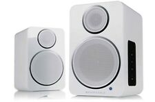 Wharfedale DS-2 Active Bluetooth Desktop Speakers (Pair) PC/MAC/Turntable -White