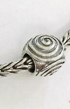 Authentic Trollbeads Spiral Sterling Silver Bead