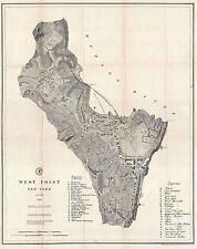 1883 U.S. Coast Survey Chart Map West Point Military Academy NY Coastal Wall Art