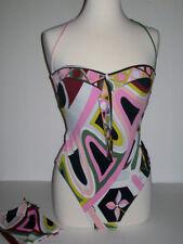 Emilio Pucci Swimsuit Multi Color One Piece Size 12 US 48 IT w/ Original Bag