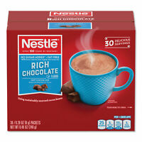 Nestlé No-Sugar-Added Hot Cocoa Mix Envelopes Rich Chocolate 0.28 oz Packet 30