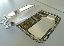 More details for quality silver plated entree serving dish, hawksworth eyre & co, sheffield