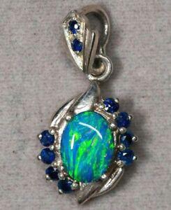 Australian Opal Doublet 925 Sterling Silver Pendant Jewelry POP7S051119