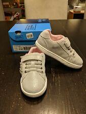 NIB Stride Rite Nora Silver Ruffle Sneaker 8M