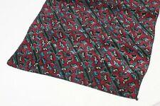 "Men's silk scarf sz 46""x10 1/2"" made in Italy"