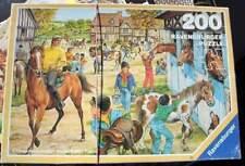 VINTAGE RAVENSBURGER bambini-Puzzle 200 pezzi-durante l'pferdehof