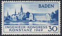 FZ BADEN, MiNr. 46 II, postfrisch, Fotoattest Straub, Mi. 650,-