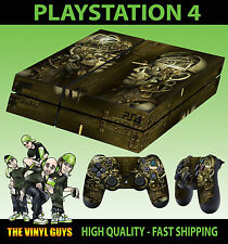 PS4 Skin Steampunk ROBOT COGS INGRANAGGI industriale adesivo + PAD decalcomania in vinile di cui