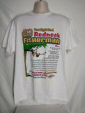 Vintage 10 reasons You Might Be A Redneck Fisherman 2XL Shirt Jeff Foxworthy