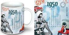 Regalo di compleanno 68th - 1950 Tazza, 1950 COMPILATION Brit Pop CD e carta ANNO