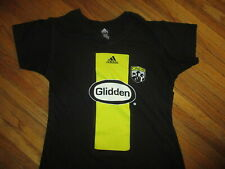 WOMENS COLUMBUS CREW T SHIRT Jersey Style V-Neck Tee MLS Soccer Adidas LARGE
