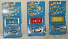 HOT WHEELS Die Cast CARS - Park'N Plates - Set of 3 Original Packaging
