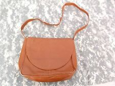 Biacci Brown Leather Messenger Shoulder Handbag Purse 6455