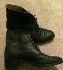 Vintage retro ladies black laceup granny ankle Boots Ipenama Viking size 8