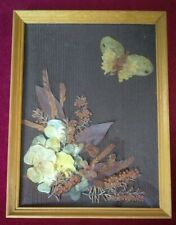 Vintage, Collectable, Butterfly & Flowers Foliage Collage. By Sheelagh Trante.