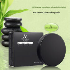 Handmade Activated Charcoal Crystal Soap Blackheads Remove Face Wash Oil Control
