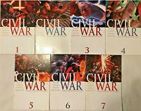 CIVIL WAR#1-7 VF/NM  LOT 2008 MARVEL COMICS