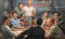 """GOOD ART-- American Presidents playing poker art painting ON CANVAS # 36"""" INCHES"""