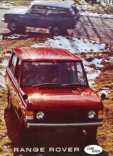 1970 1971 Range Rover 16-page Original Car Sales Brochure Catalog - Land