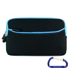 "Neoprene Cover Case for the Nook HD 7"" Tablet - Black with Blue Trim"