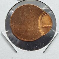 1962-1982 ND Brass Alloy Lincoln Memorial Cent 85% Off Center Error Coin CH BU