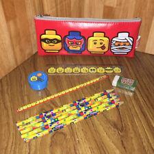 Lego Stationery Set Pencils Ruler Eraser Sharpener Case Stocking Filler NEW