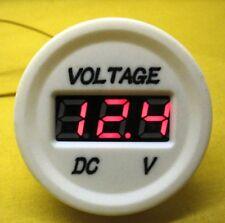 Volt Meter RED LED White Marine 12V 24V DC Battery Voltmeter Camper Caravan 4x4