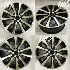 "18"" Honda Civic Alloy Wheels Rims HFP STYLE - MACHINED BLACK - SET OF 4 NEW"