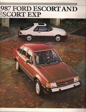 Ford Escort & EXP 1987 USA Market Sales Brochure Pony GL GT Luxury Sport
