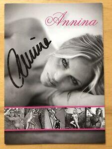 Annina Ucatis Semmelhaack AK Model Erotik Autogrammkarte original signiert