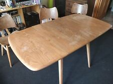 Vintage Ercol dining room table and chairs