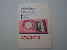 advertising Pubblicità 1959 ATLANTIC TELEVISORE