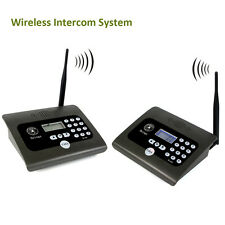 2p 400-470MHz Wireless Voice Calling System 2-way  Desktop Radio for Home&Office