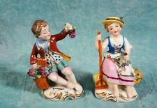 Sitzendorf Figurines Boy Girl Harvest Garden Children Dresden Antique Germany