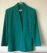 Jacques Vert 2 piece suit jacket and skirt set womens size 14 jade emerald green