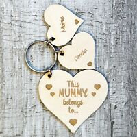 Personalised Mothers Day Gifts For Her Mummy Mum Grandma Nanny Nan Keyring Gifts