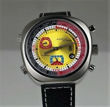 Sorna automatic watch yellow version leather strap NOS-Style unworn