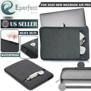 """For 2020 MacBook Pro Air 13"""" A2179 A2289 A2338 Laptop Sleeve Bag Case Soft Pouch"""