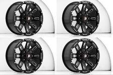 "Set 4 17"" Ballistic 958 Ravage Black Milled Rims 17x9 5x135 5x5.5 0mm Ford 5 Lug"