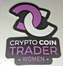 New Cryptocurrency Crypto sticker decal laptop WOMEN TRADER blockchain girl