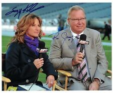 Suzy Kolber & Ron Jaworski AUTOGRAPH 8x10 PHOTO HAND SIGNED ESPN FOOTBALL